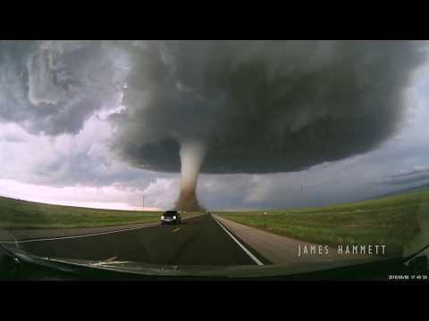 Dashcam: Laramie, WY tornado June 6, 2018