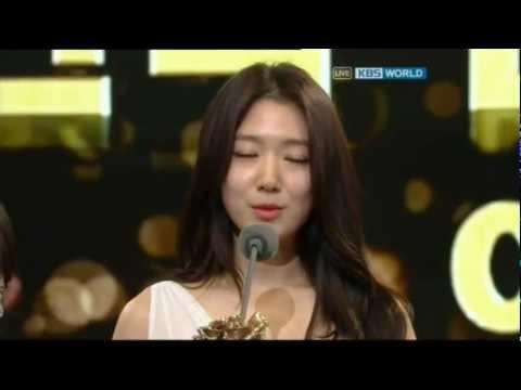 [HD] 121231 KBS Drama Awards - Park Shin Hye Cut