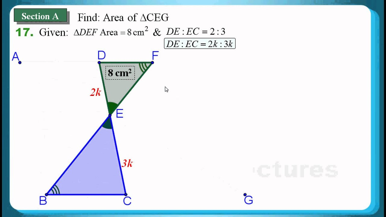 how to find area of similar triangles