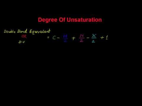 Degree of Unsaturation (Double Bond Equivalent)
