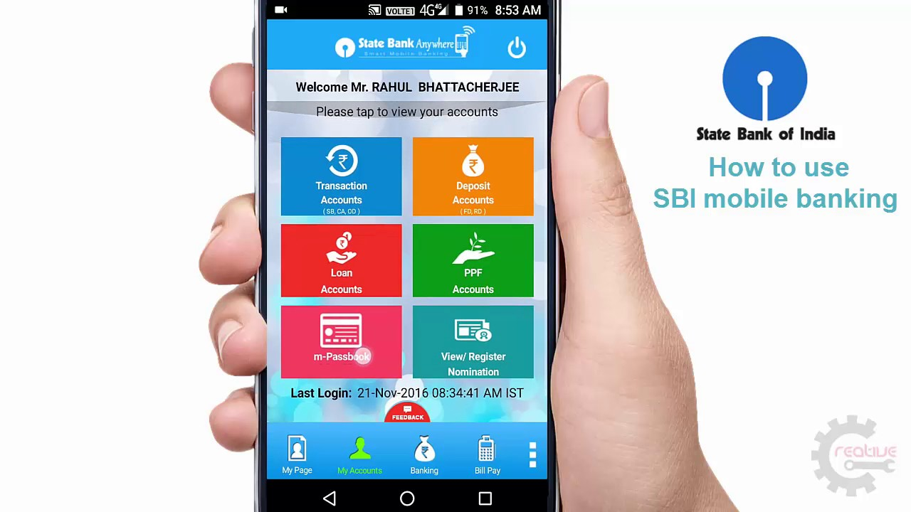 sbi mobile banking how to start