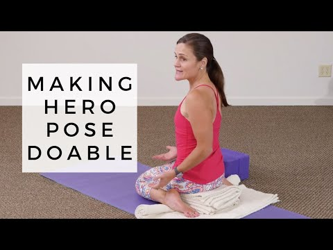 Making Hero Pose Doable | Modifications for Virasana