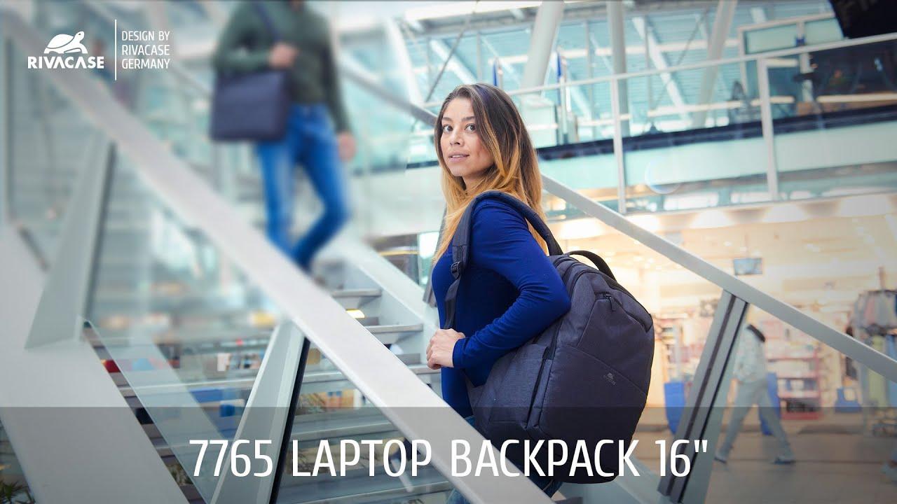 19cc53fa4dcc RIVACASE 7765 black Laptop backpack 16