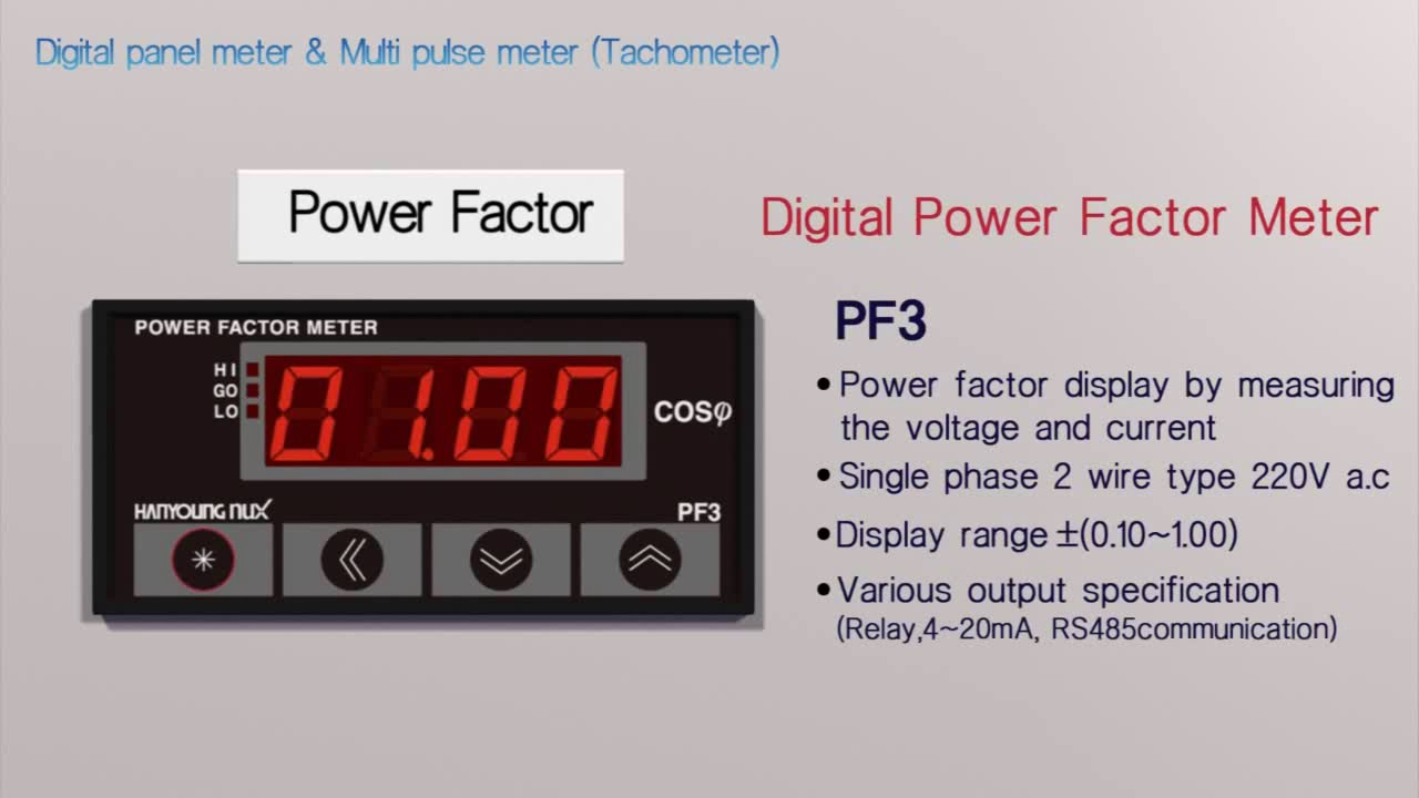 Application Of Digital Panel Meter Multi Pulse Youtube Current Relay