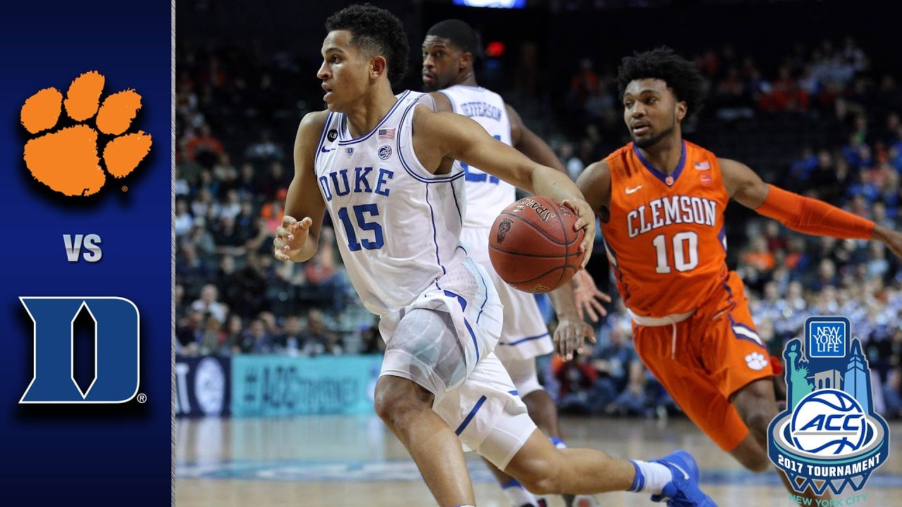 Image result for Duke vs Clemson Basketball Live