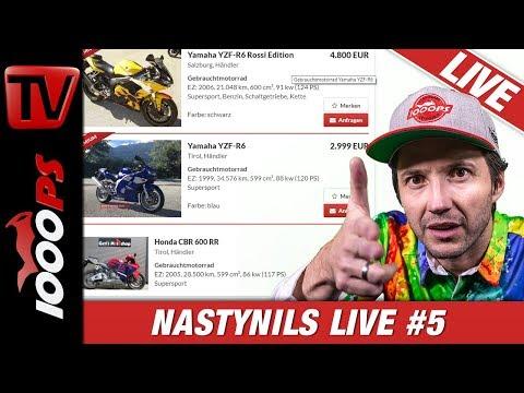 Motorrad Kaufberatung - NastyNils Live Folge 5 - Reiseenduros, A2 Bikes, Nakedbikes und Smalltalk