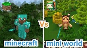 Minecraft vs Mini World: Block Art - Review | Bạn Thích Game nào Hơn ?