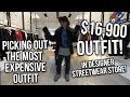MOST EXPENSIVE OUTFIT IN DESIGNER STREETWEAR STORE!
