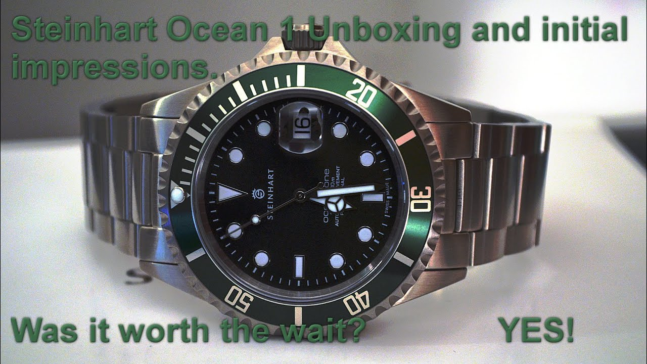 Steinhart Ocean 1 Green Unboxing And Initial Impressions
