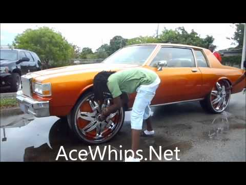 "AceWhips.NET- AD's 2DR Chevy Box on 28"" DUB Ravenous Floaters at WTW Customs Browad"