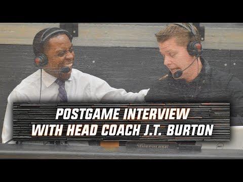 WATCH: Tusculum Men's Basketball postgame - Coach J.T. Burton - Lees-McRae Game