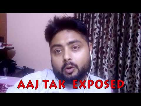 Aaj Tak Exposed by India Speaks Daily special correspondent Amit  Chawla