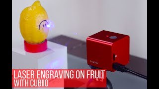 How to use CUBIIO pocket laser engraver on fruits