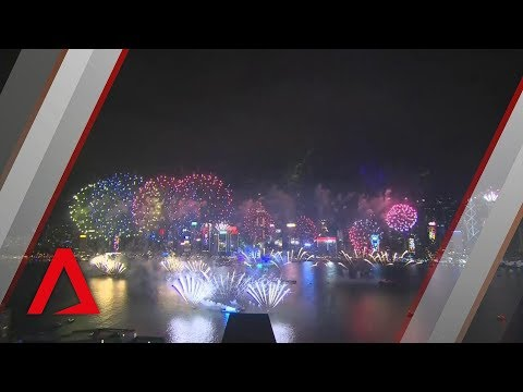 Hong Kong ushers in 2019 with fireworks over Victoria Harbour
