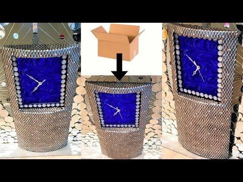 DIY ROOM DECOR - METALLIC ART WALL CLOCK - ROOM DECOR IDEA!