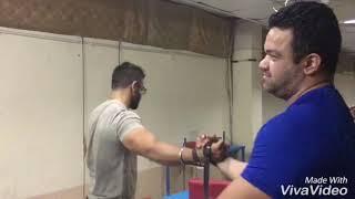 Arm Wrestling Practice Session