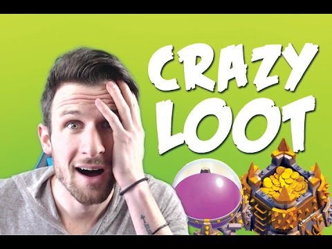 CLASH OF CLANS :: CRAZY LOOT RAIDS :: GEM BOOST IS AMAZING