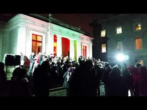 Christmas Carolers in Trinity College Dublin