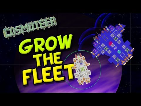 GROW THE FLEET! ep 2 - Cosmoteer - Game of Space Battles and Ship Building!