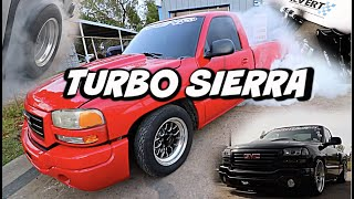TURBO SIERRA BURNOUT INSTALLING CALTRACS ON THE GMC