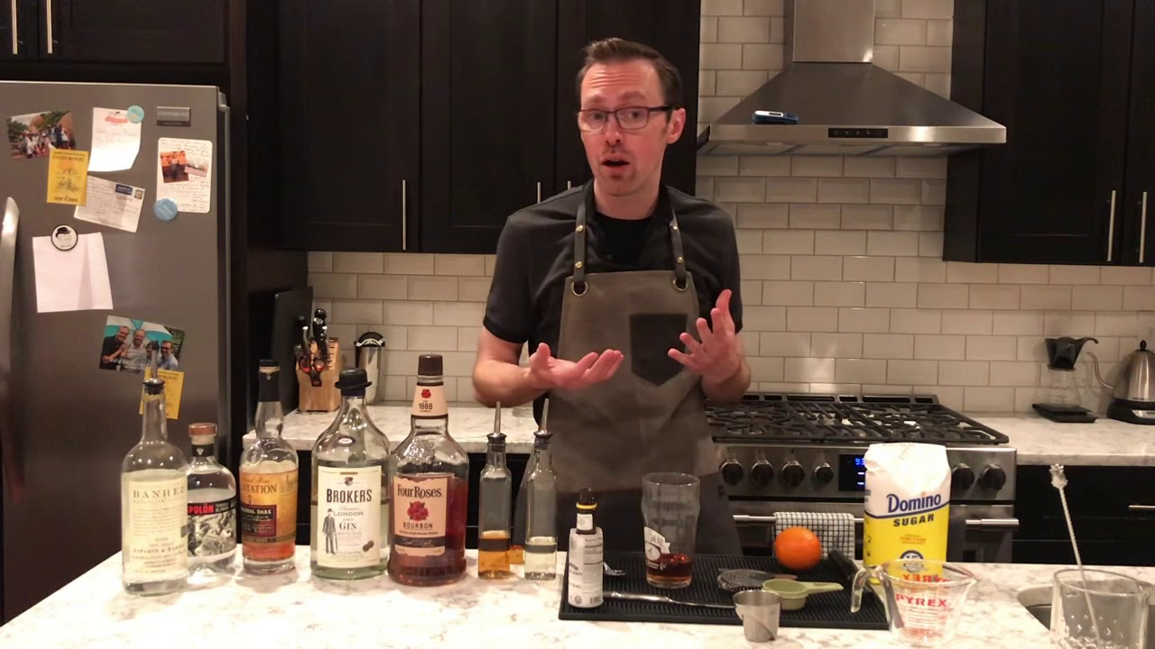 Old Fashioned Family Cocktails: Quarantine Cocktail Kitchen