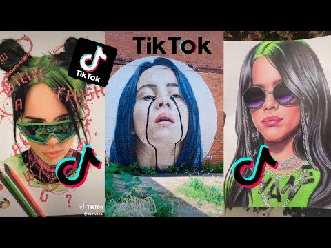 tik-tok-drawing-billie-eilish-#3