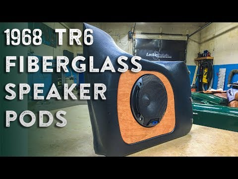 TR6 Fiberglass Speaker Pods
