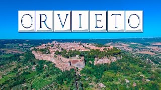 Orvieto is a small town on the top of an interesting land formation in region umbria italy. many old houses are built above caves...
