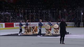Rocky Mountain Taiko Ensemble: Calgary Hitmen Multicultural Night at the Saddledome