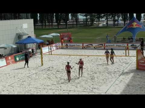 Beach Volleyball Russia Final 2014 Sochi Dyachuk-Novikova and Shvedova-Mastikova