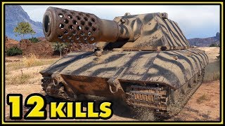 E-100 - 12 Kills - World of Tanks Gameplay