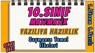 10. Sınıf Matematik  1. Dönem 1. Yazılıya Hazırlık REHBER MATEMATİK sınavvar