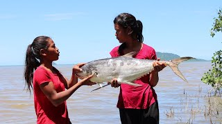 Find food at the beach meet Oyster & Pick A big Sea fish to Cook for lunch  My Natural Food ep 53