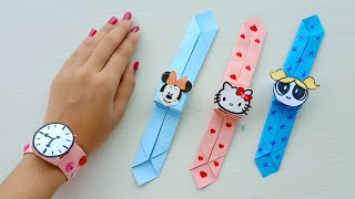 How to make easy paper watch /Origami paper Watch / Easy Origami / Paper watch / DIY /school craft