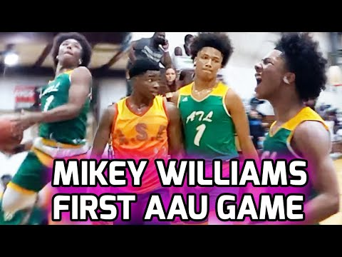 Mikey Williams Makes 2020 AAU DEBUT With Atlanta Celtics 16U! Chippy Game That Gets CRAZY Late 🍿