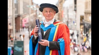 Actor Gary Lewis receives Honorary Degree of Doctor of Letters
