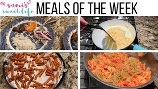 MEALS OF THE WEEK + RECIPE LINKS | WHAT'S FOR DINNER, FAMILY OF 3 + PREGNANT