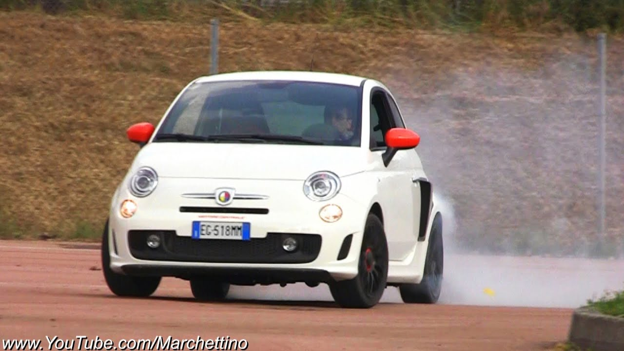 RWD Abarth 500 Drifting and Burnouts! - YouTube