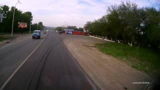 авария змеиногорский тракт 12.05.2014 (отчаянная бабуля решила бортануть камаз)