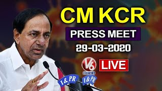 CM KCR Press Meet LIVE | Telangana LockDown | Corona Alert | V6 Telugu News