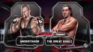 WWE 2K15- The Undertaker vs Great Khali Normal Match 2015 (PS4)