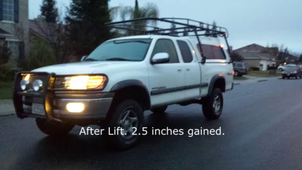 1st Gen Tundra Build Lifted Rear Youtube