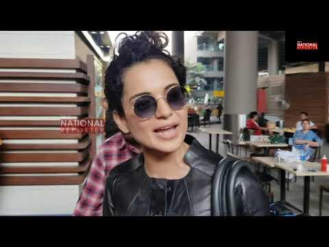 Manikarnika  Actress Kangana Ranut Spotted in Mumbai Airport     Kangana Ranut