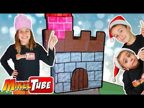 Lola Amplia el Castillo de Carton y lo decoramos para Navidad