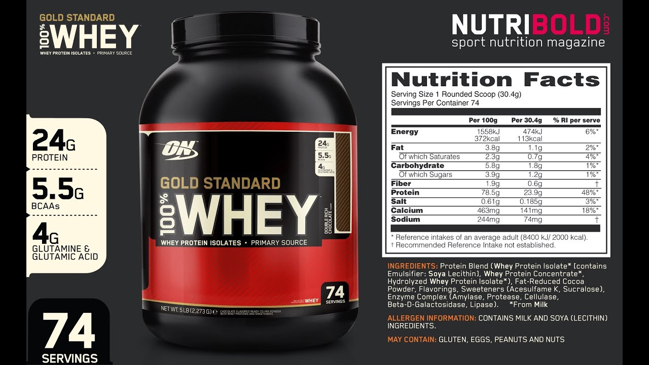 100 Whey Gold By Optimum Nutrition 2 Lb Powder Strawberry Review You