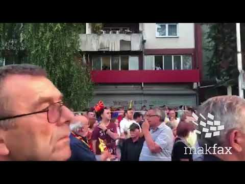 Мијалков преку прозор го следи протестот на ВМРО-ДПМНЕ
