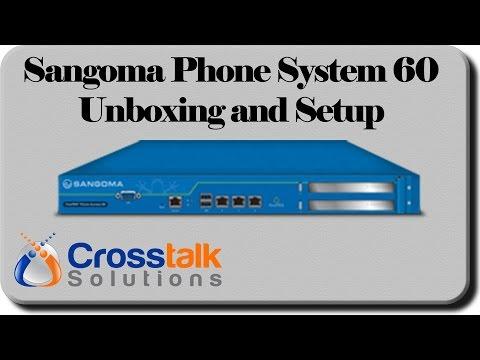 Sangoma Phone System 60 Unboxing and Setup - YouTube