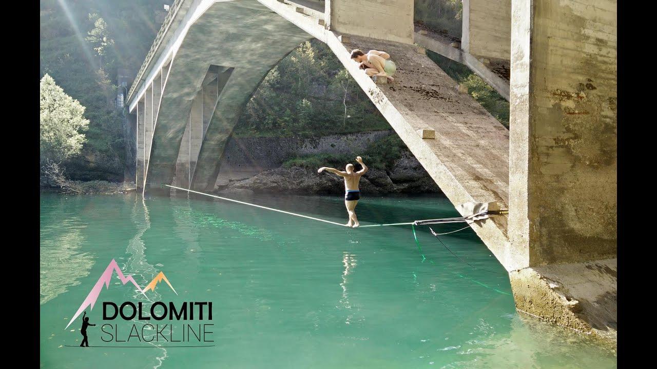 One Day - Waterline with Dolomiti Slackline - YouTube