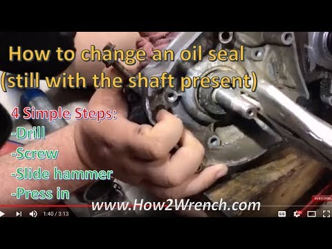 How to replace an oil seal with the shaft still in the case.