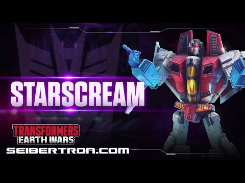 STARSCREAM Character Spotlight video and demo Transformers: Earth Wars